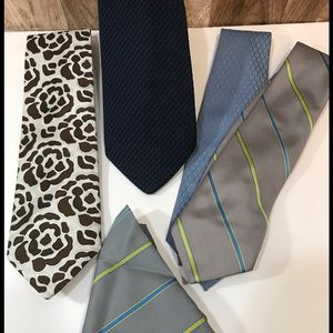 Lot de cravates DIOR et LANVIN